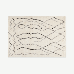 Cecily Pile Rug, Large 160 x 230cm, Off White & Grey